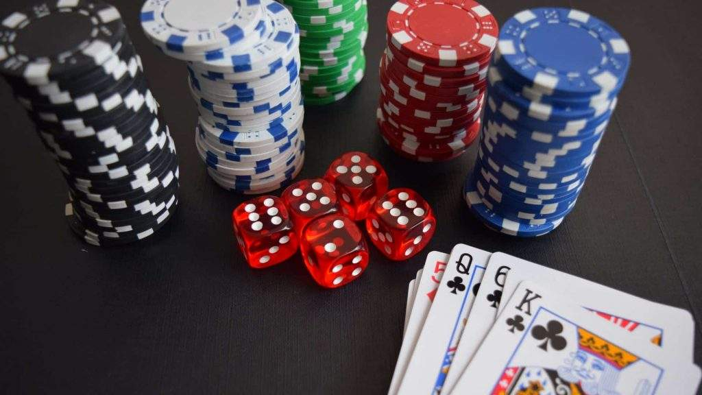 Poker Chips and Cards Gambling Addiction
